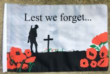 "LEST WE FORGET (WWF) - 18"" X 12"" FLAG"